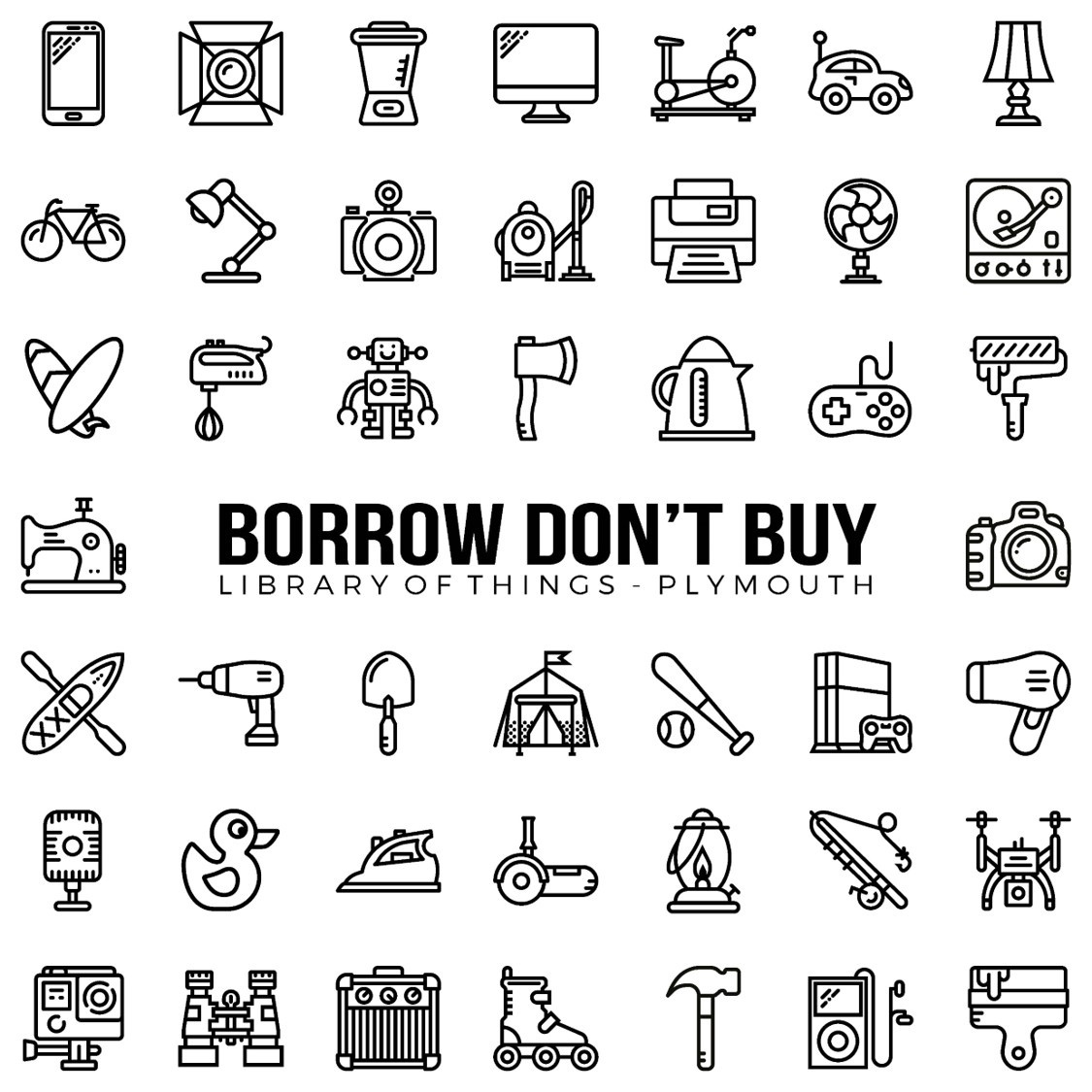 Borrow Don't Buy - Plymouth's Library of Things