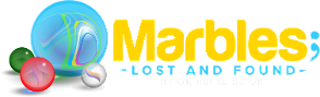 Marbles Lost and Found Logo