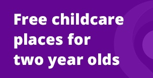 Free Childcare Places For Eligible Two-Year Olds Promotional News Banner
