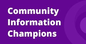 COVID-19 Community Information Champion News Banner
