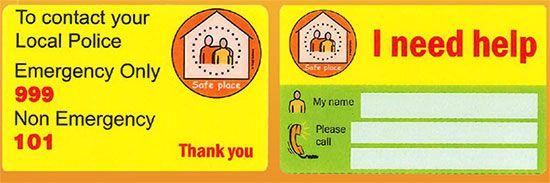 Safe Places Window Sticker